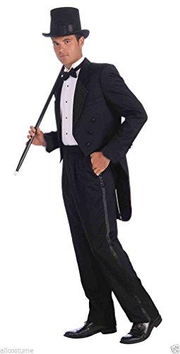 [Popcandy Vintage Hollywood Tux Costume Tux Tails SALE Black Costume Tuxedo 68373] (Tuxedo Mask Costume Sale)
