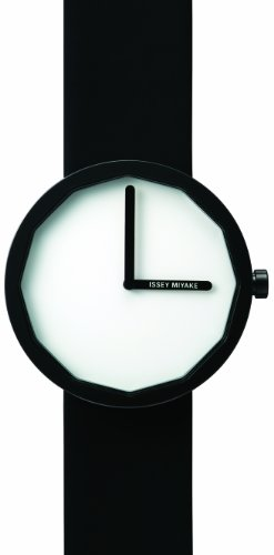 Issey Miyake Unisex Twelve Watch IM-SILAP002 With Black Leather Strap