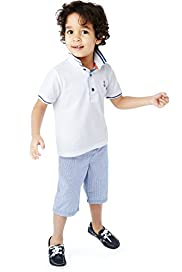 2 Piece Pure Cotton Polo Shirt & Shorts Outfit