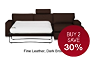 Finn (No Dock) Right Hand Corner Sofa Bed - Leather