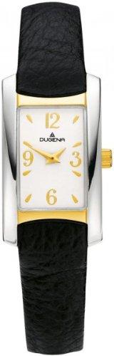Dugena 4375696 - Reloj analógico de cuarzo para mujer con correa de acero inoxidable, color plateado