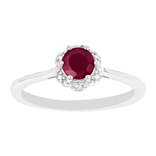 .70 Carat Brilliant Round Cut Ruby Engagement Ring 5mm