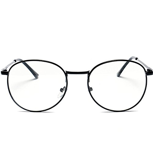 GUGGE Student Retro Metal Frame Plain Mirror Round Style(C1) (Where Can I Buy Cat Eye Contacts)