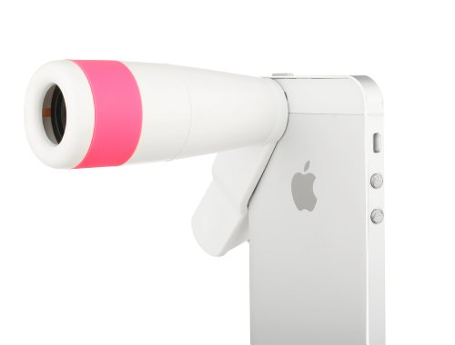 Aestar Universal Clip 8X High Clarity Night Vision Monocular Micro Mini Telescope Optical Lens For Apple Iphone 5 5S 5C 4 4S Ipad Ipad Mini Samsung Galaxy S5 S4 Tablets And Smart Phone (Pink/White)