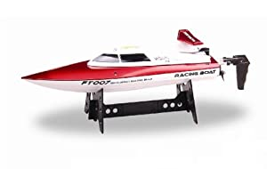 15MPH HIGH SPEED 2.4Ghz RACING BOAT with rechargeable Lipo battery. Astounding 450 feet range!! Electric Full Function 2.4 Ghz High Performance (Colors May Vary) from CIS