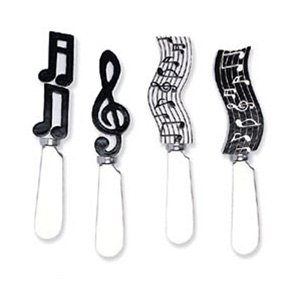 Cheese Spreader S/4 - Musical Notes