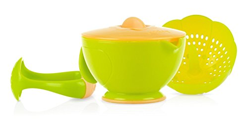 Nuby Garden Fresh Steam 'N' Mash Baby Food Prep Bowl and Food Masher Green/Orange (Baby Food Mashing Bowl compare prices)