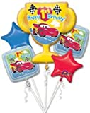 Disney's Cars Trophy Five Piece Balloon Bouquet, New Arrival