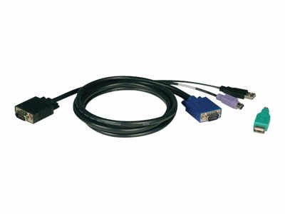 15ft ps2/usb kvm cable kit for b042 series kvm switches