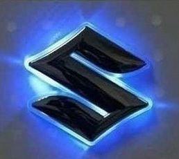 【OUMIYA】 LED でリアの エンブレム が 光 る!! 電光 エンブレム 灯 SUZUKI ワゴンR用 スズキ  青