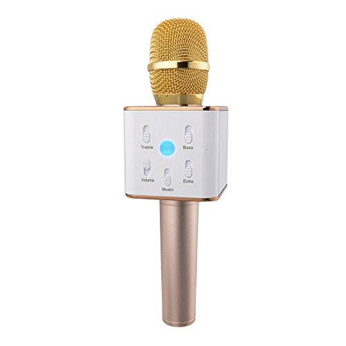 Urbun Q7 Wireless Handheld Microphone Portable KTV Karaoke Stereo Player Bluetooth For KaraOK App iOS / Android Smart Phones/Pads Computer With Mic Speaker VE-OE0014 (Phone Apps For Android compare prices)
