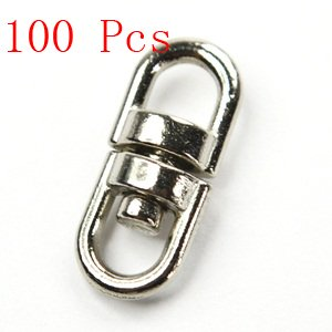 Bluecell 100 Pcs Of 15Mm Double Square Eye Swivel With Nickel Plated front-682599
