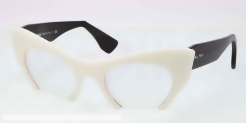 Miu MiuMIU MIU Eyeglasses MU 04MV 7S31O1 Ivory 49MM