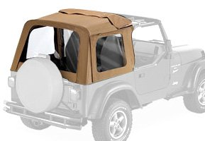 Bestop® 51699-37 Spice Sunrider Complete Replacement Soft Top with Clear windows- No doors included- 1997-2002 Jeep Wrangler