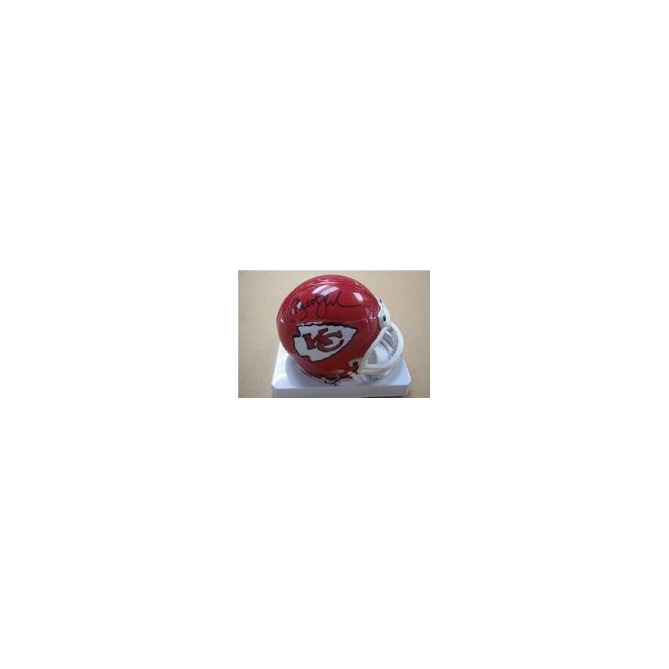 Priest Holmes Autographed Mini Helmet   Autographed NFL Mini Helmets