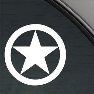 """Star Ww2 Star Style#1 War Star 5"""" (Color: White) Vinyl Decal Window Sticker For Cars, Trucks, Windows, Walls, Laptops, And Other Stuff."""