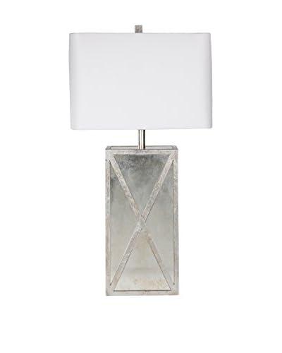 Surya Jaxon 1-Light Table Lamp, Antiqued Mirror