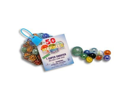 Imperial Marbles, 50-Count Set With Super Shooter & Game Book - 1