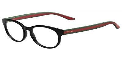 GUCCI Montatura occhiali da vista 3547 051N Nero/Rosso/Verde 51MM