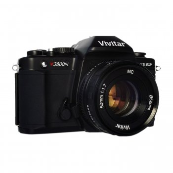 New Vivitar SLR Camera - Black (VIV-V3800-50)