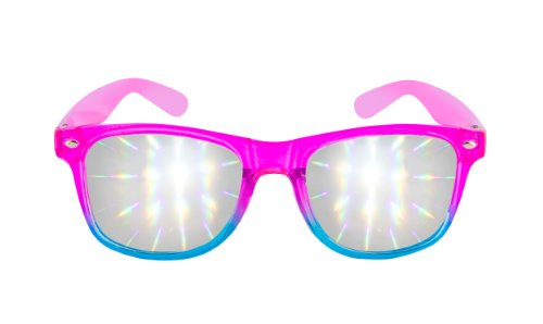 Diffraction Glasses - High Quality - Rave Accessories - Pink Blue Clear