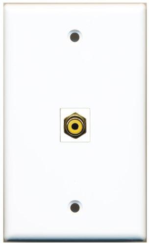 Riteav 1 Rca Yellow For Subwoofer Wall Plate Coupler Keystone Type Jack