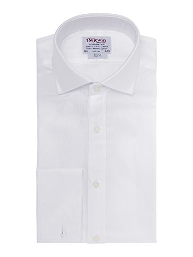 tmlewin-chemise-casual-uni-col-chemise-italien-manches-longues-homme-blanc-blanc