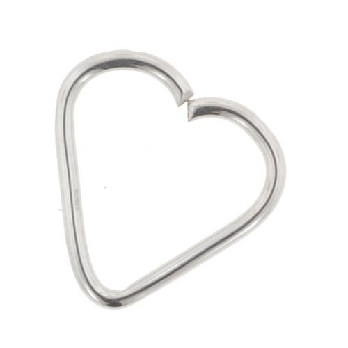 Stainless Steel Continuous Heart Shaped Ring: 18g 7/16