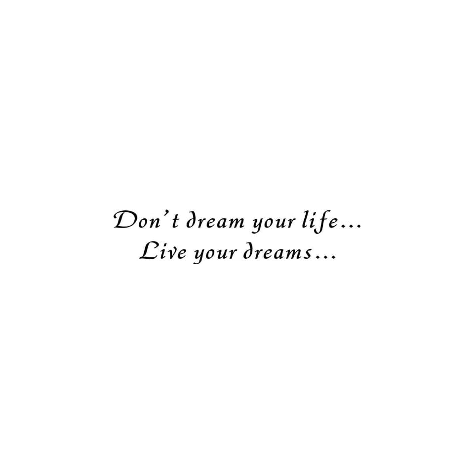 Life, Live Your Dream   Vinyl Wall Art Lettering Words