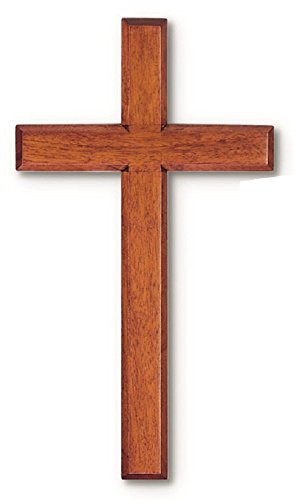 Solid Mahogany Wood Wall Cross (10