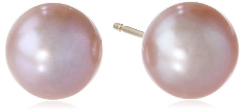 14k Yellow Gold Akoya Cultured Pearl Stud Earrings (6.5-7 mm)