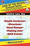 Search : Fishing Hot Spots Map of Lake of the Woods (Northwest Section)