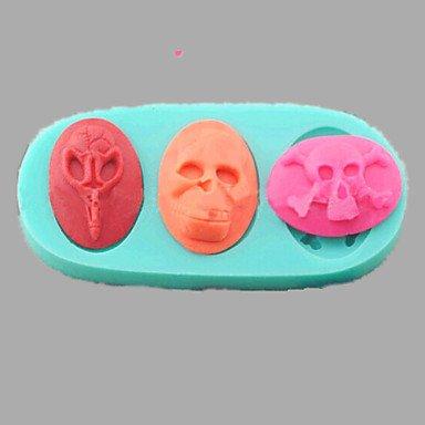 Halloween Human Skeleton Skull Fondant Cake Chocolate Silicone Mold,L11cm*W5cm*H1.4cm