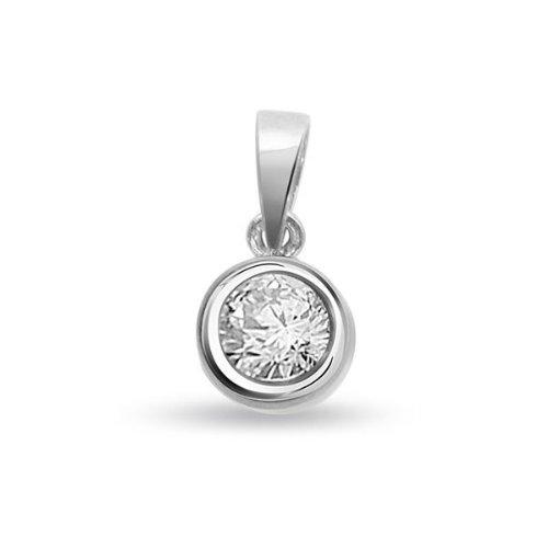 Infinity Jewellery 0.45ct Solitär Diamant Anhänger für Damen H/SI1 in 18ct Weissgold ohne Halsband jetzt kaufen