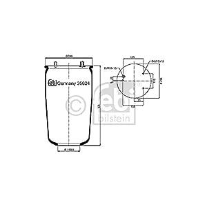 Febi Bilstein 35624 Boot, air suspension
