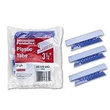 Pendaflex Hanging File Folder Tabs, 1/3 Tab, 3.5 Inches, Voilet Tab/White Insert, 25 per Pack (43-1/2-VIO)