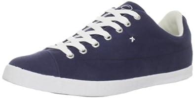 Pelé Sports Men's Rasunda Canvas shoe,Peacoat/Gardenia/White,8 M US