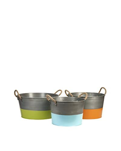 Set of 3 Chelsey Round Tubs, Multi