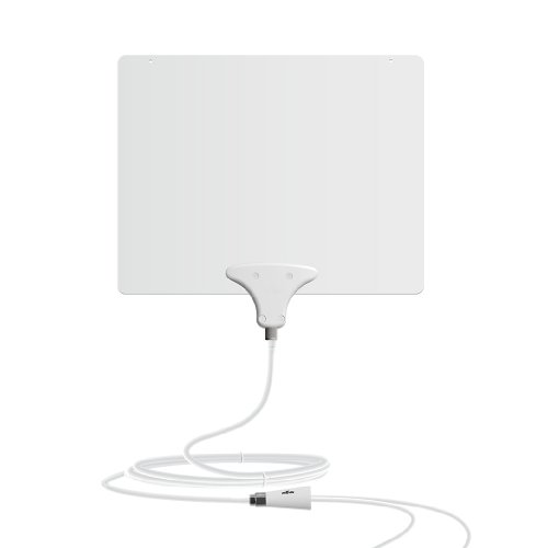 Mohu Leaf 50 TV Antenna, Indoor, Amplified, 50 Mile Range, Original Paper-thin, Reversible, Paintable, 4K-Ready HDTV, 16 Foot Detachable Cable, Premium Materials for Performance, USA Made, MH-110599