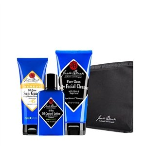 Best Cheap Deal for Jack Black Summer Skin Saver 2011 Includes Pure Clean Daily Facial Cleanser 3floz, All Day Oil Control Lotion 3.3floz, Oil Free Sun Guard SPF 45 and a Travel Tote by Jack Black - Free 2 Day Shipping Available