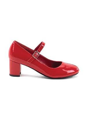Sexy Red School Girl Costume Mary Jane Pump - 7