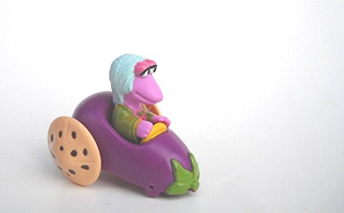 FRAGGLE ROCK - McDonald's Vegetable Car featuring: Mokey in an Eggplant Car ~ (1988) HAPPY MEAL TOY - 1