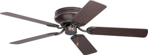 Emerson Cf804Sorb Snugger 42-Inch 3-Speed Indoor Ceiling Fan With 5 Dark-Cherry/Medium-Oak Blades, Oil-Rubbed Bronze