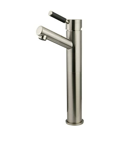 Kingston Brass Vessel Sink Faucet Without Pop-Up & Plate, Satin Nickel