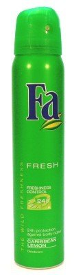 Fa Deodorant 200 ml Spray Cribbean Lemon (Green) (Case of 6)