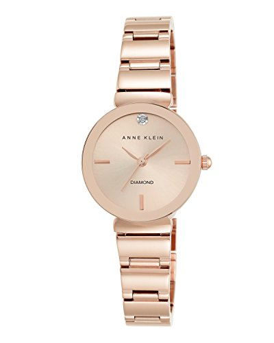 Anne Klein Women's Quartz Watch with Rose Gold Dial Analogue Display and Rose Gold Alloy Bracelet AK/N2434RGRG