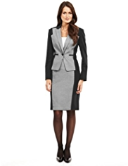 M&S Collection 1 Button Contrast Panelled Jacket