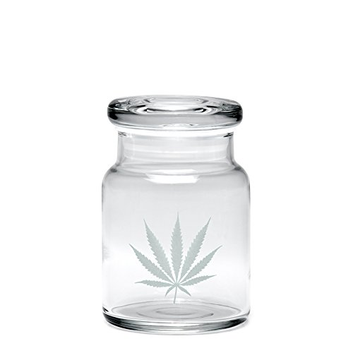 420 Science Pop Top Jar Silver Leaf - Assorted Sizes (SMALL)