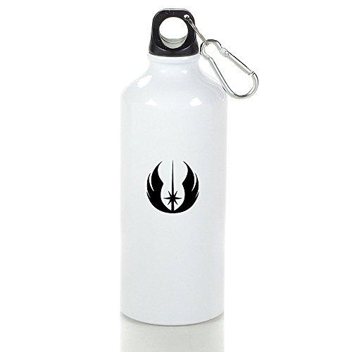 Aluminum Star War Jedi Logo Sports Water Bottle White
