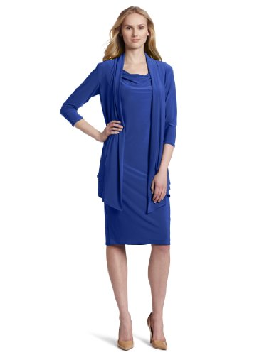 Jones New York Women's Mock Jacket Dress, Blue, 6